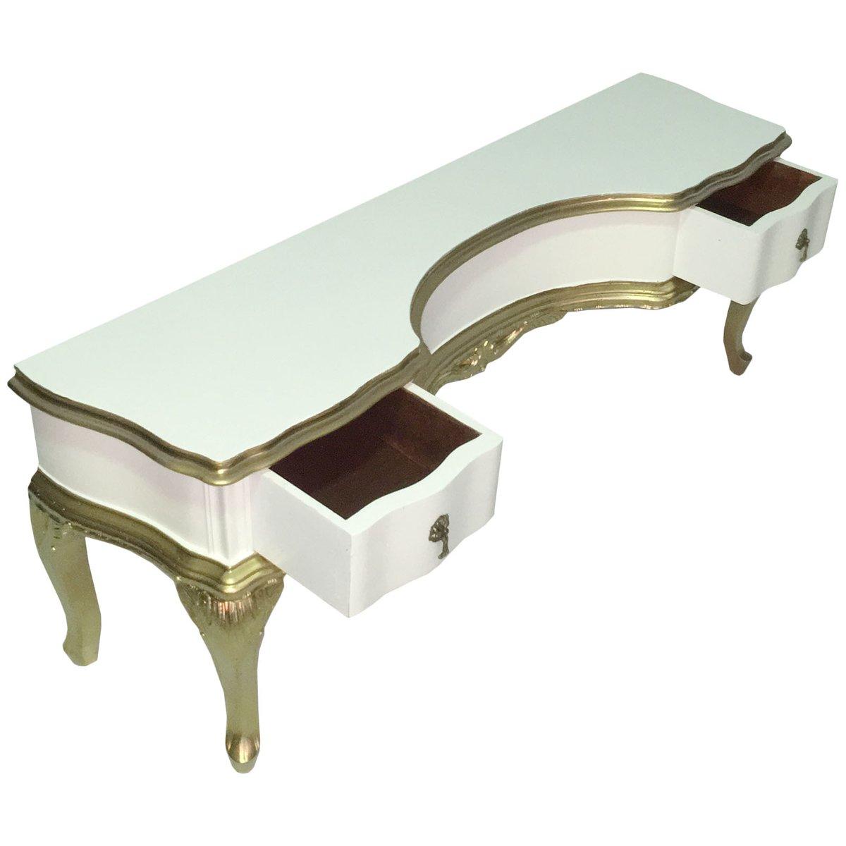 italienischer frisiertisch mit spiegel im barock stil. Black Bedroom Furniture Sets. Home Design Ideas