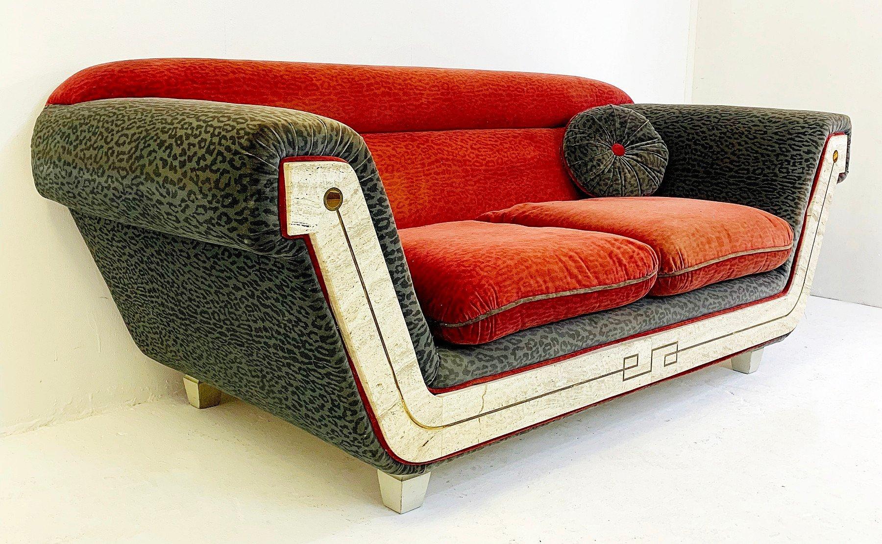 italienisches vintage 2 sitzer sofa 1970er bei pamono kaufen. Black Bedroom Furniture Sets. Home Design Ideas