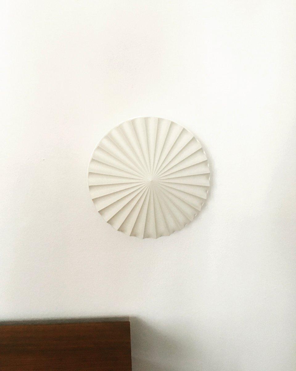 Origami Wand- oder Deckenlampe aus Kunststoff von Erco, 1960er