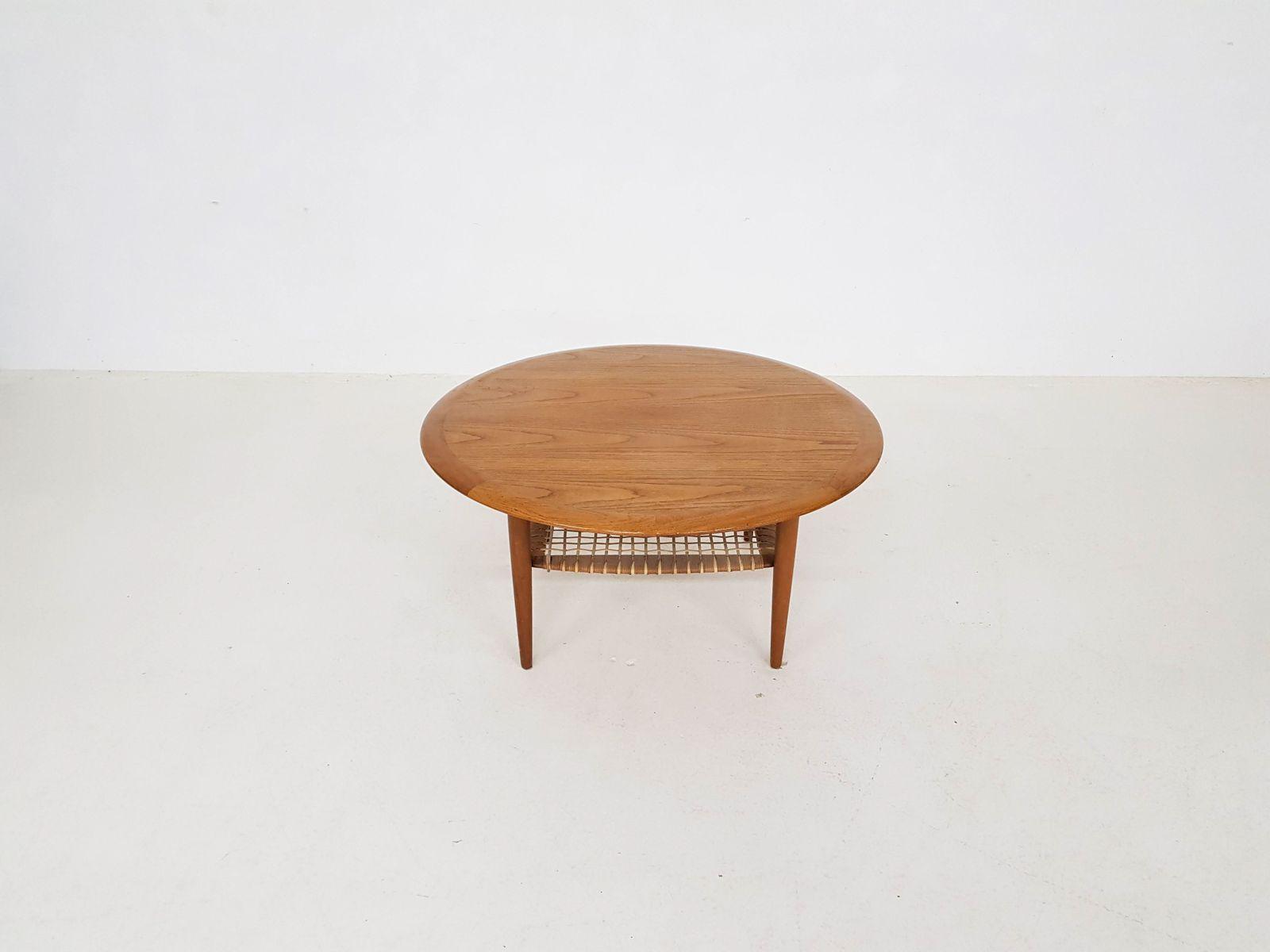 Table basse ronde en teck de bovenkamp 1960s en vente sur - Table basse en teck ...