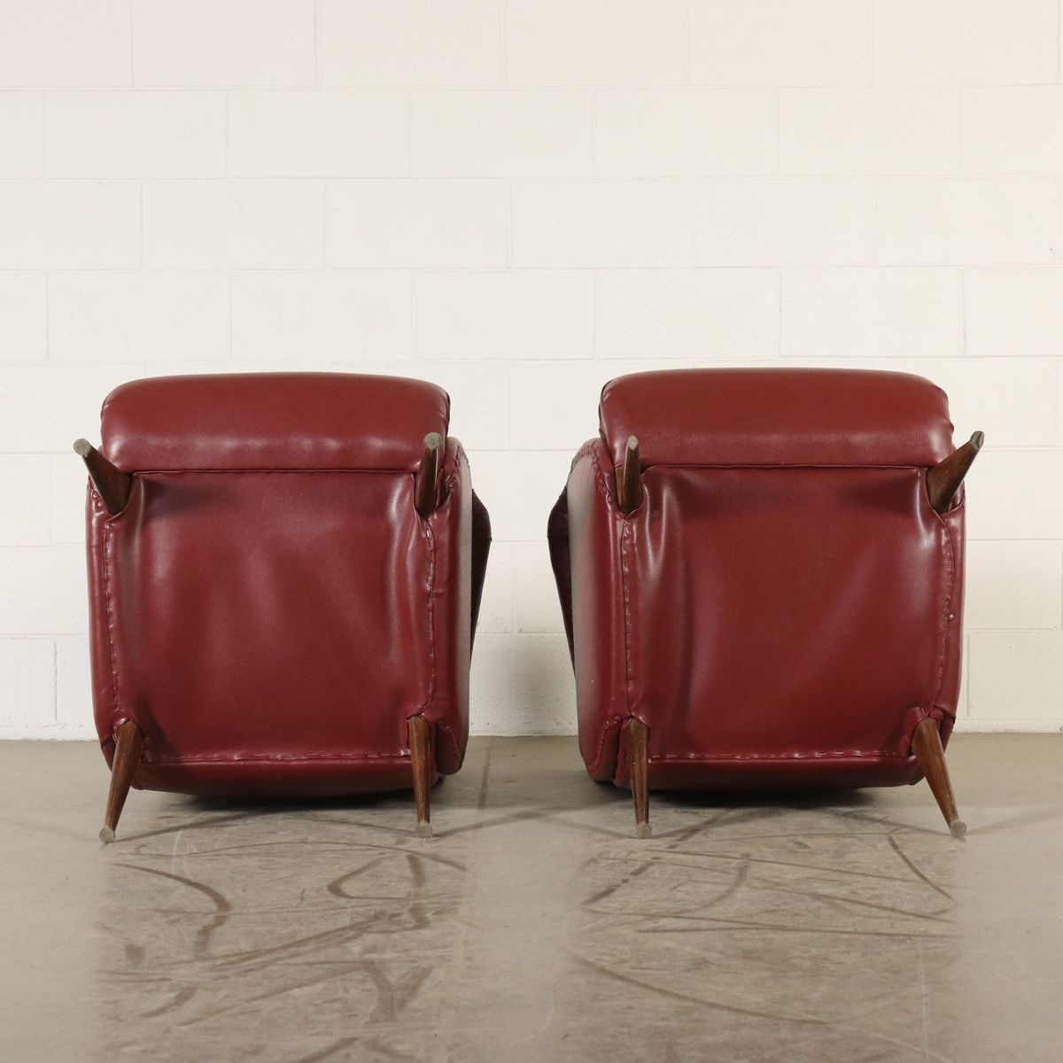 Italienische Sessel Mit Bezug Aus Kunstleder 1950er 2er
