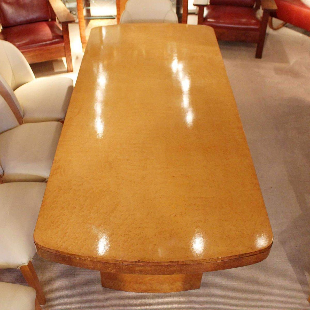 set de table de salle manger et 8 chaises art d co en. Black Bedroom Furniture Sets. Home Design Ideas