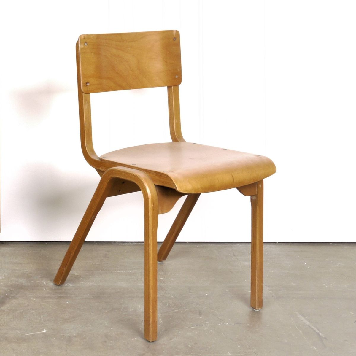 Wood Dining Chairs By James Leonard For Esa 1950s Set Of 4 Bei