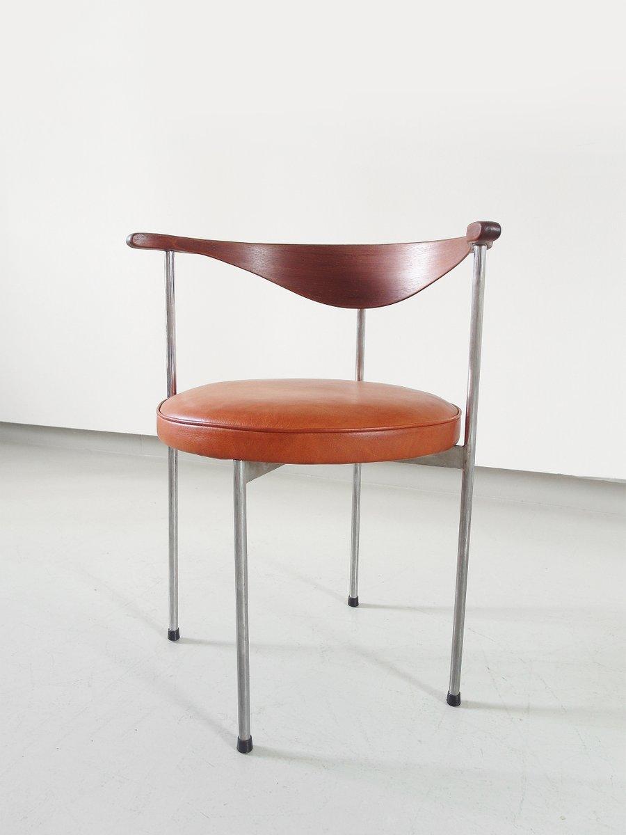 chaise d 39 appoint scandinave par frederik sieck pour fritz hansen 1964 en vente sur pamono. Black Bedroom Furniture Sets. Home Design Ideas