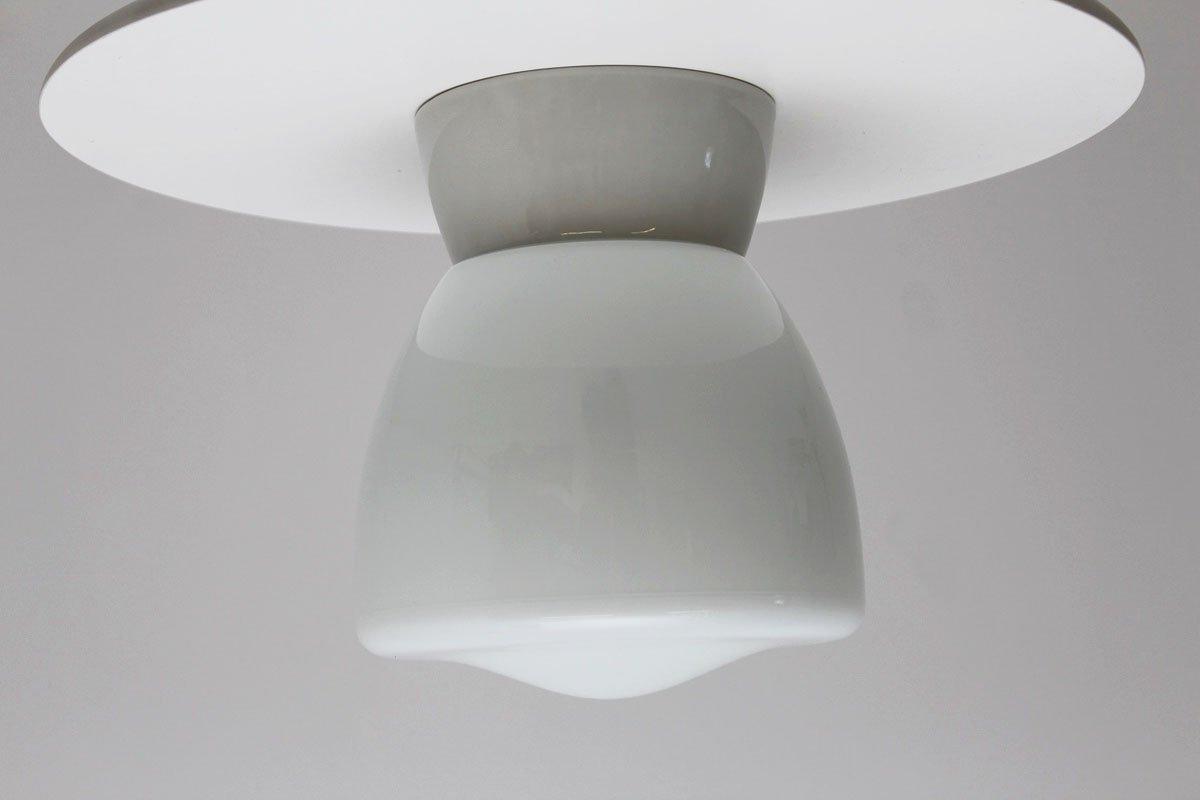 Deckenlampe aus Porzellan von Wilhelm Wagenfeld für Linder, 1950er