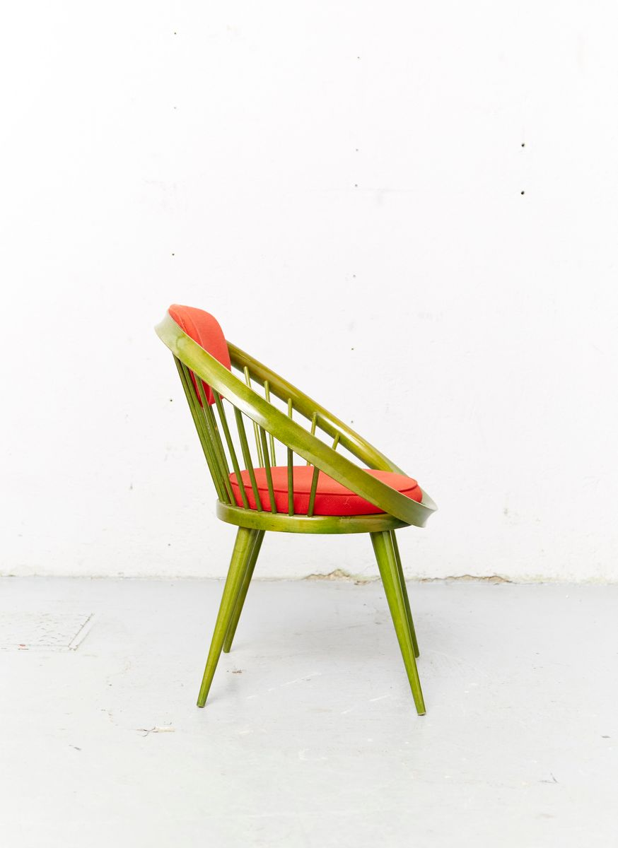 Phenomenal Mid Century Circle Chair By Yngve Ekstrom For Swedese Caraccident5 Cool Chair Designs And Ideas Caraccident5Info