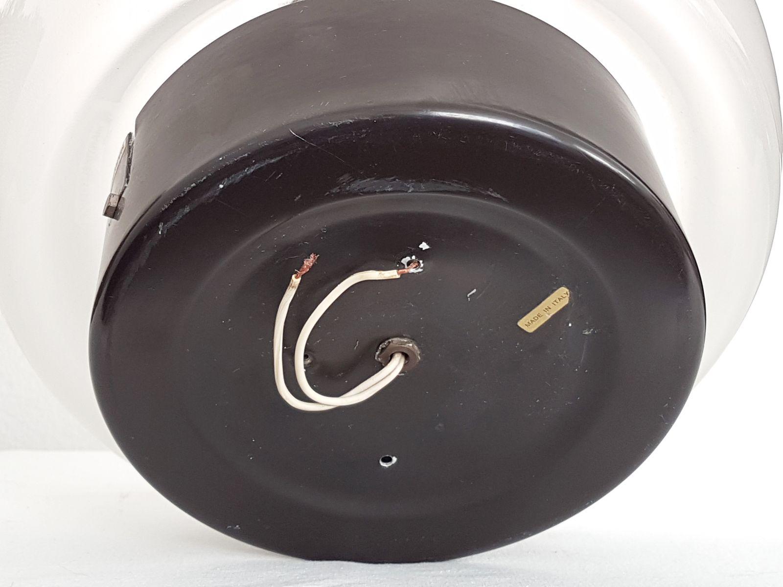 plafonnier en m tal noir et verre sabl par elio. Black Bedroom Furniture Sets. Home Design Ideas