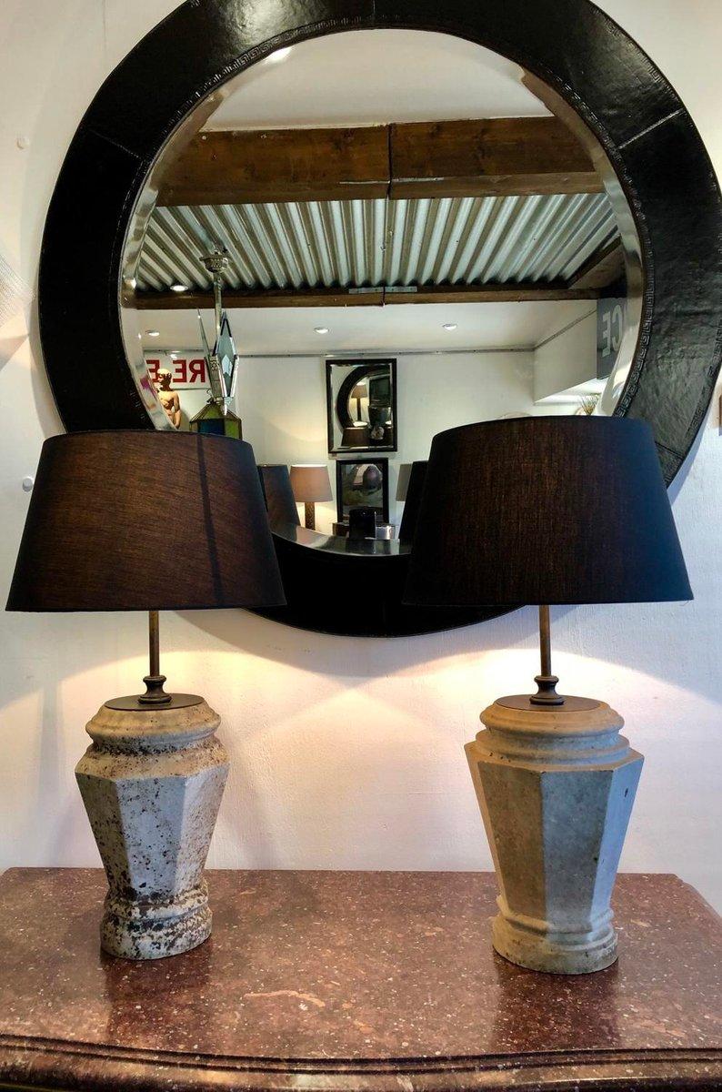 Vintage Lampen aus Marmor, 2er Set
