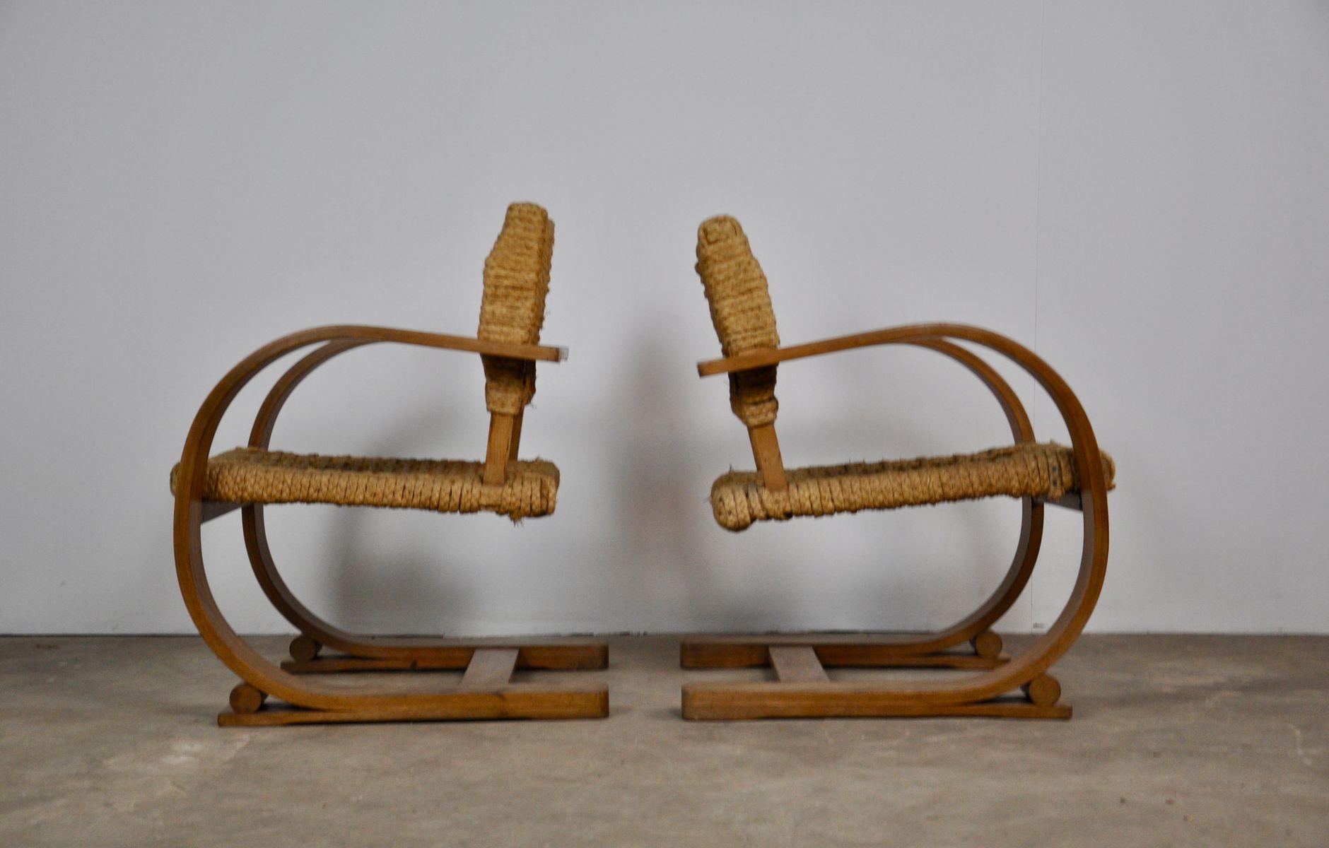 Sessel von Audoux Minet für Vibo Vesoul, 1940er, 2er Set