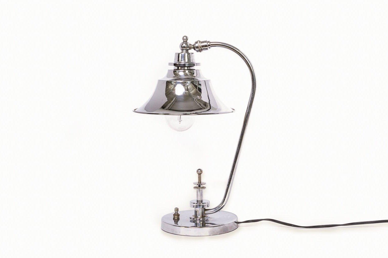 Art Deco Tischlampe aus Chrom, 1940er