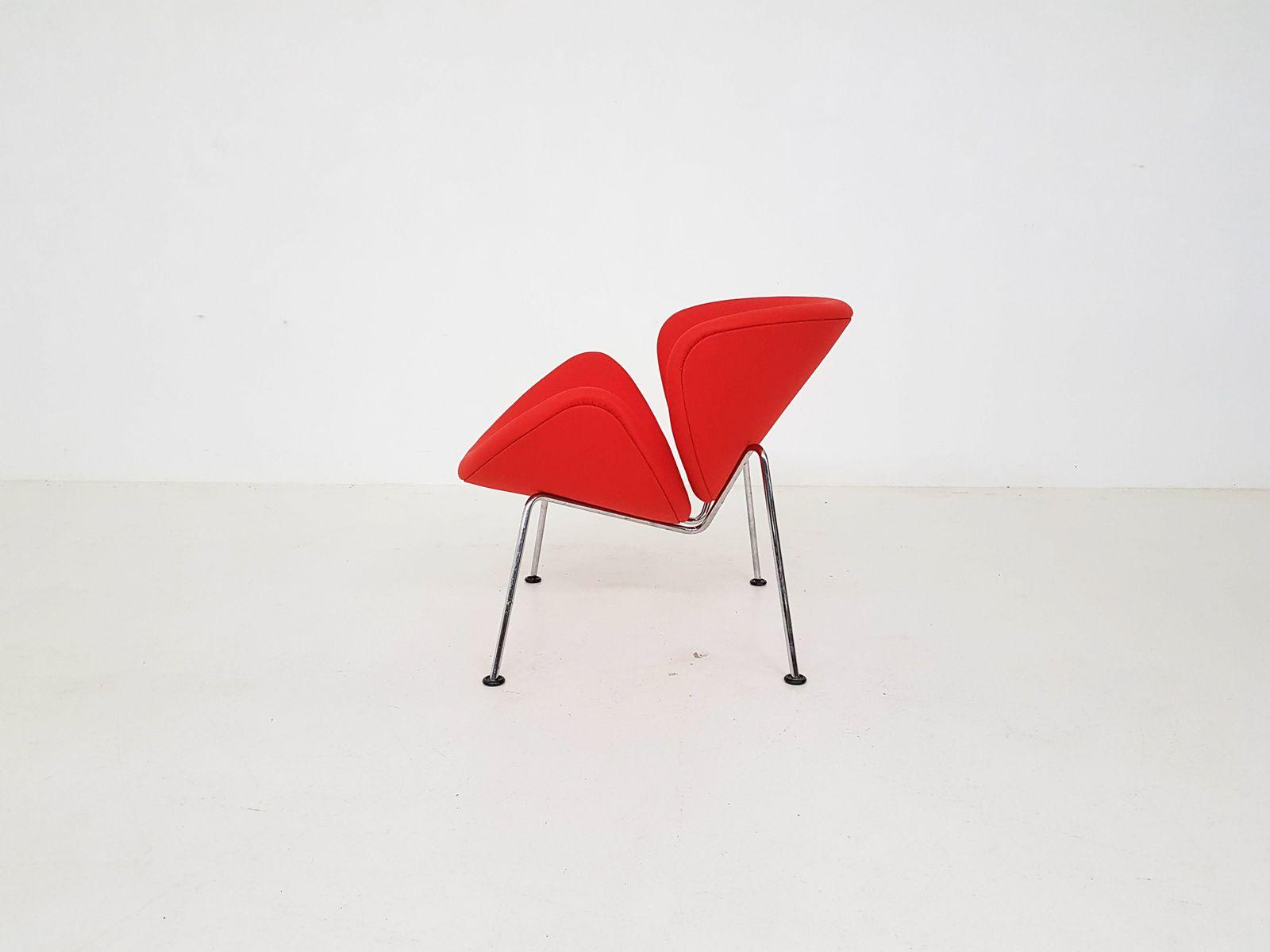 niederl ndischer orange slice sessel von pierre paulin f r. Black Bedroom Furniture Sets. Home Design Ideas