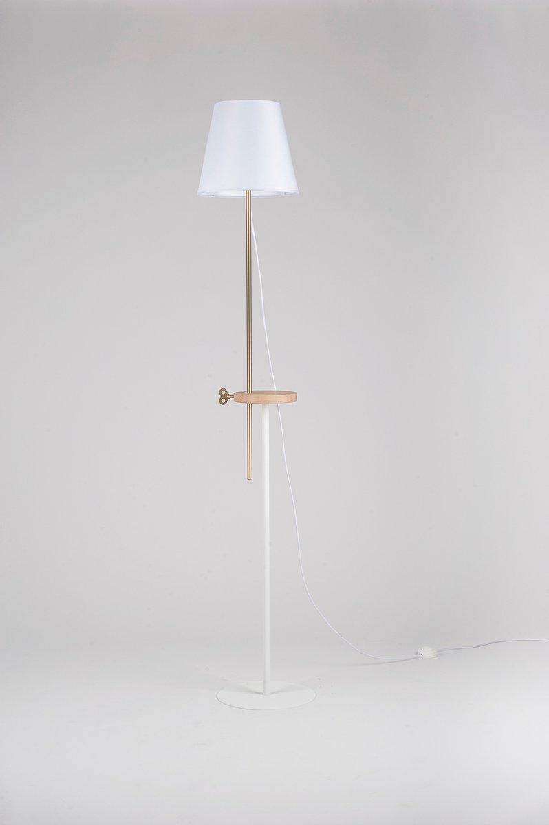 Weiße CAMILLA Stehlampe von Leonardo Fortino für Formae