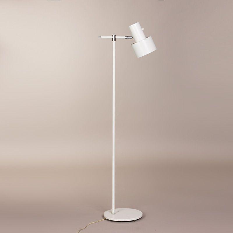Weiße Vintage Stehlampe von Jo Hammerborg für Fog & Morup