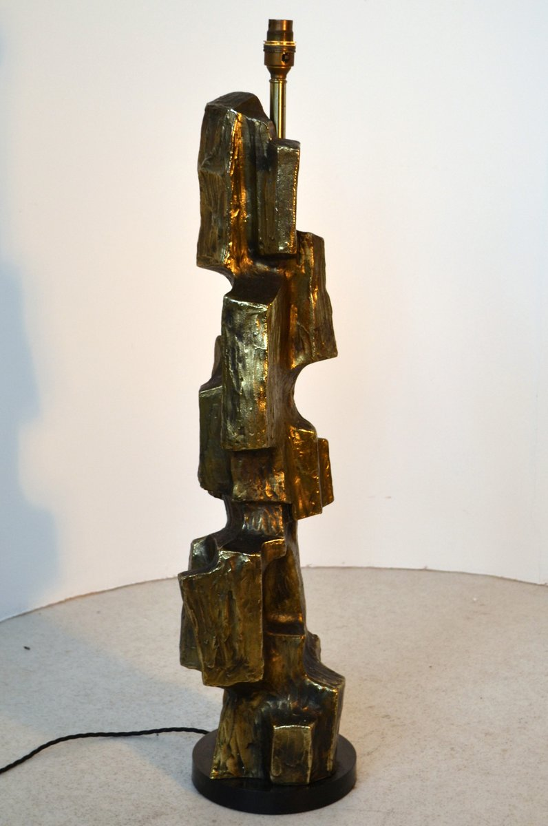 Große skulpturale brutalistische Tischlampe von Maurizio Tempestini, 1...