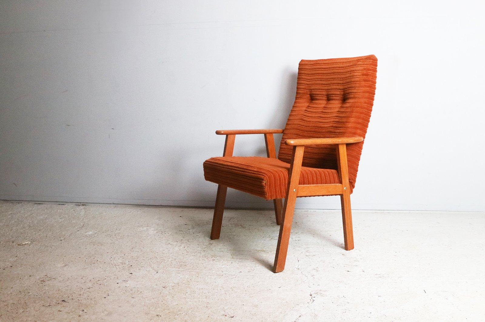 Dänischer Mid-Century Stuhl mit hoher Rückenlehne, 1960er
