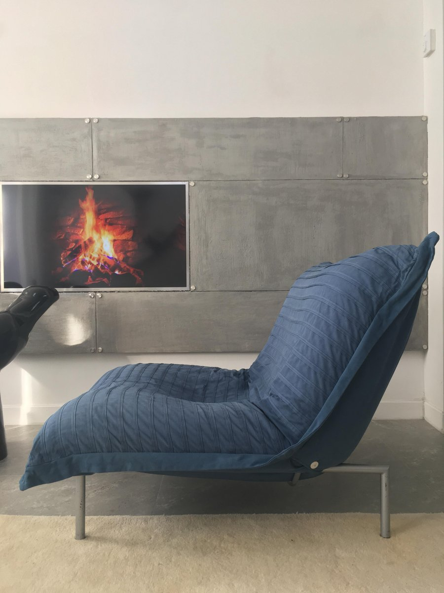 Blue calin lounge chair by pascal mourgue for cinna 1980s for sale at pamono - Canape calin cinna ...