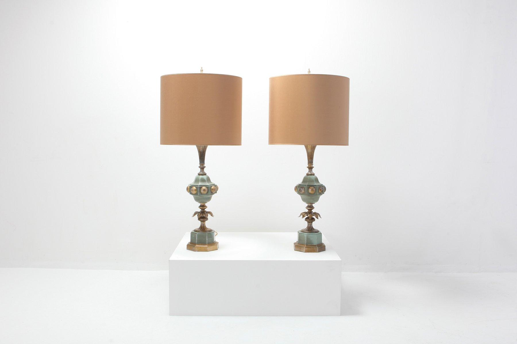 Hollywood Regency Tischlampen, 1950er, 2er Set
