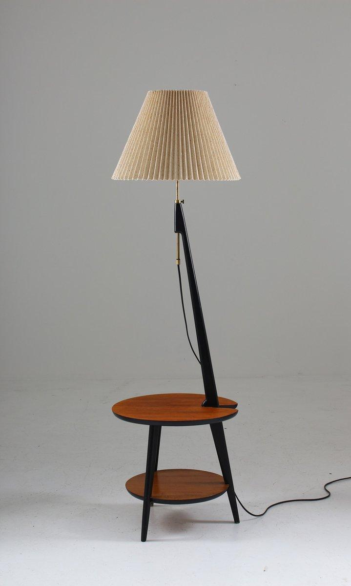 skandinavische mid century stehlampe mit tisch von anf nybro gerwerth gmbh waltrop. Black Bedroom Furniture Sets. Home Design Ideas