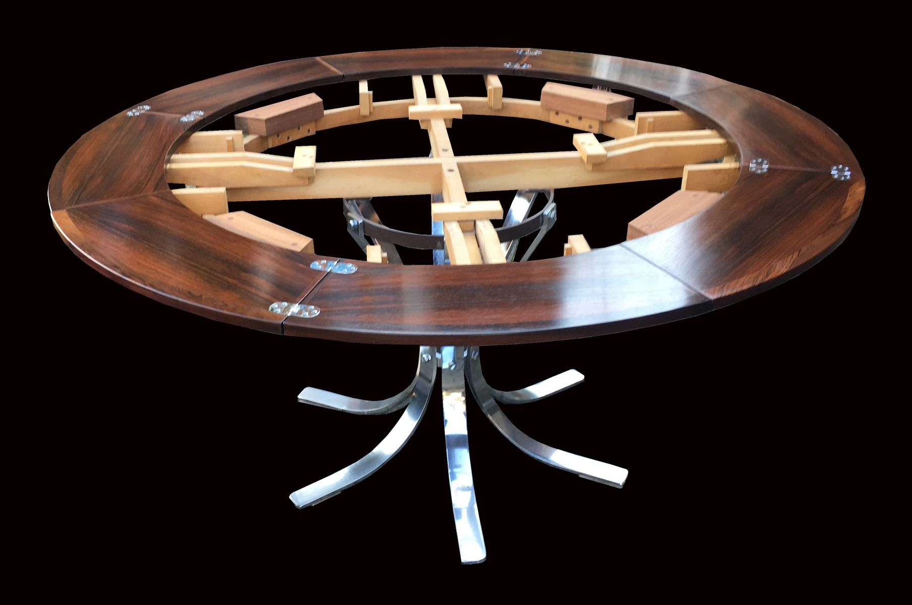 Table de salle manger ronde circulaire rallonge flip Table salle a manger originale