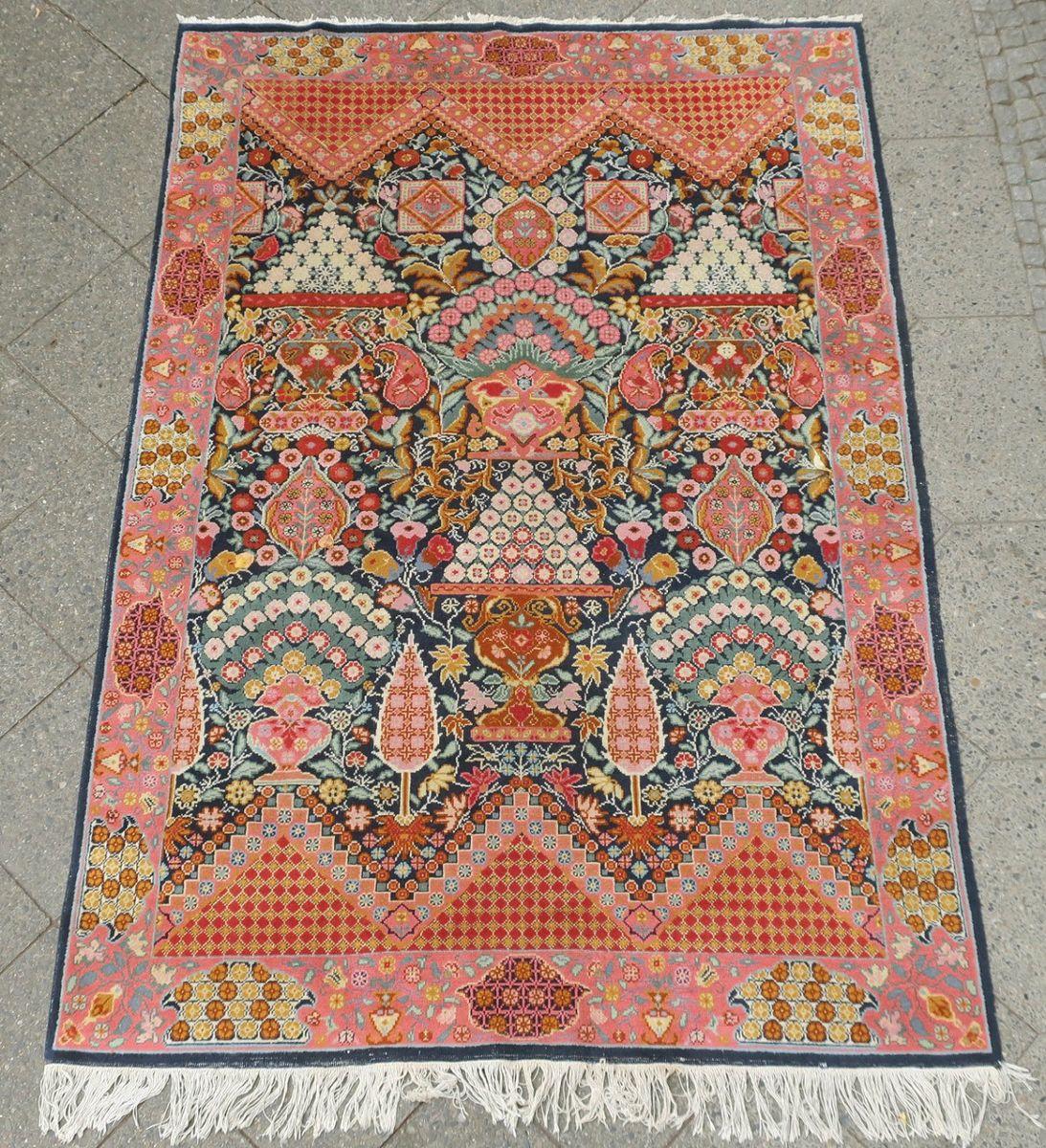 Large Mid-Century Samarkand Rug, 1960s For Sale At Pamono