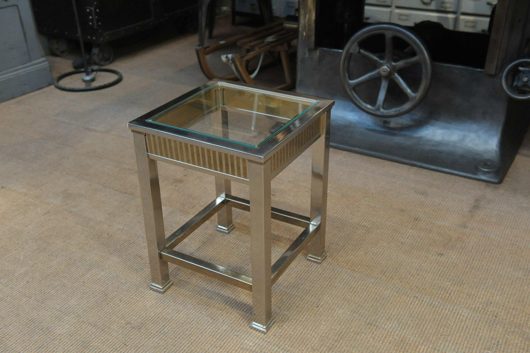 petite table console en m tal chrom en verre 1970s en vente sur pamono. Black Bedroom Furniture Sets. Home Design Ideas