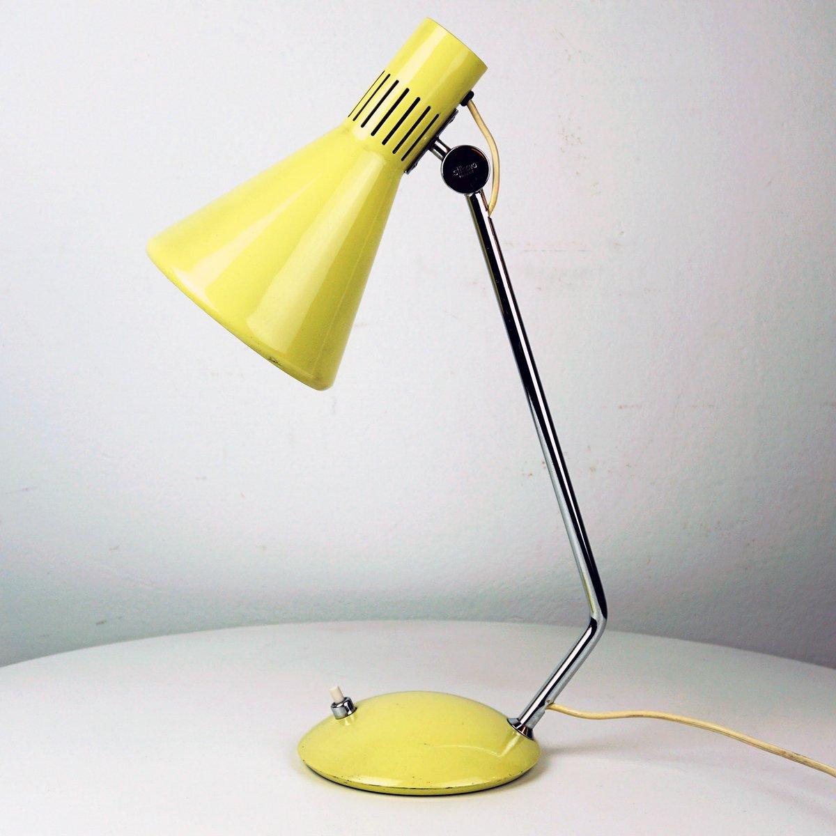 Gelbe italienische Mid-Century Schreibtischlampe von Stilnovo