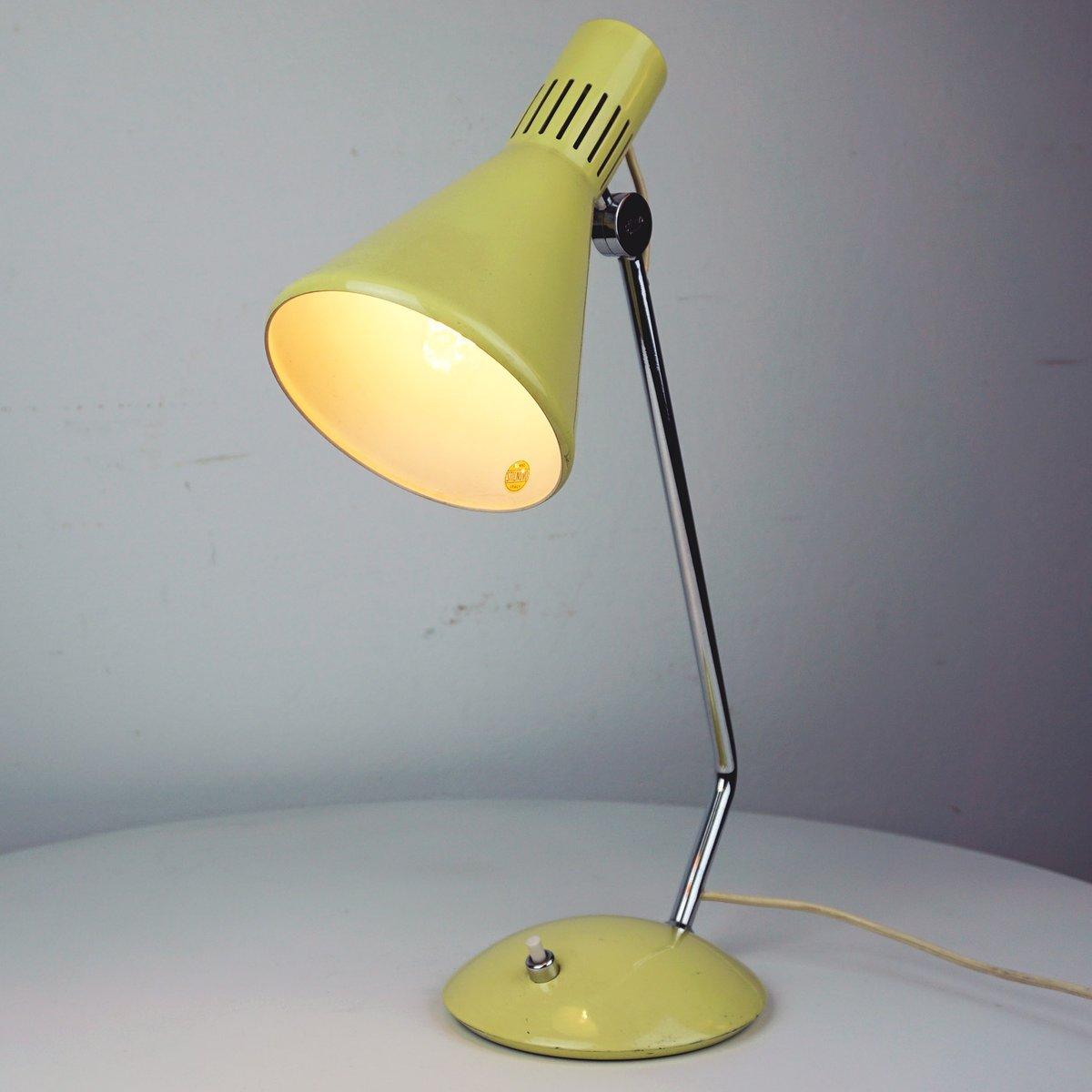 lampe de bureau mid century jaune de stilnovo italie en vente sur pamono. Black Bedroom Furniture Sets. Home Design Ideas