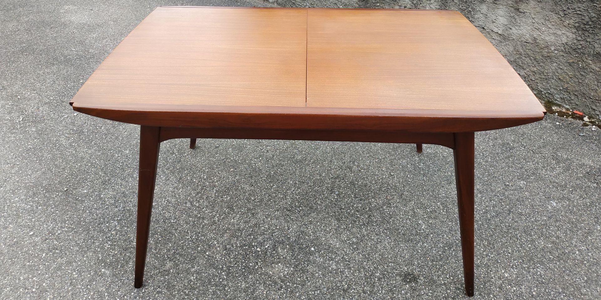 table rallonge scandinave par louis van teeffelen pour w b 1960s en vente sur pamono. Black Bedroom Furniture Sets. Home Design Ideas