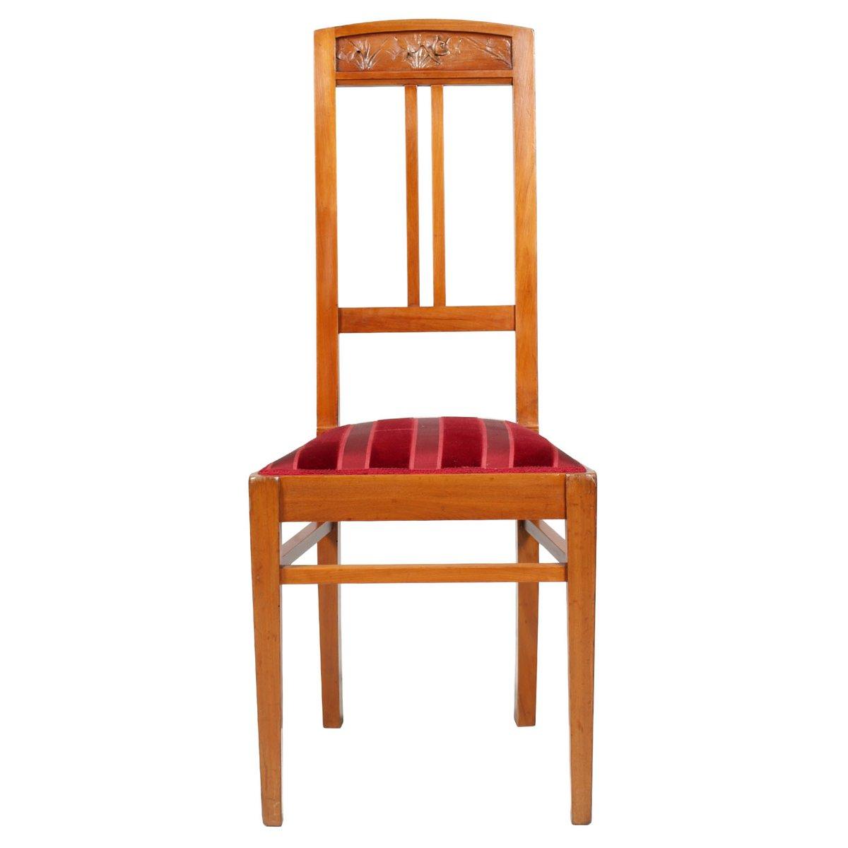 chaise d 39 appoint avec tabouret antiques art nouveau. Black Bedroom Furniture Sets. Home Design Ideas