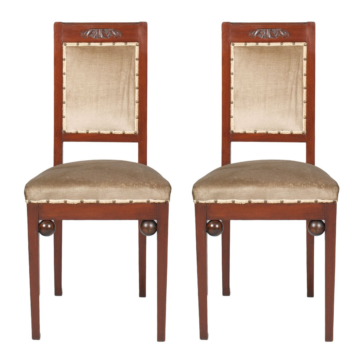 Antike Stühle Aus Nussholz Im Jugendstil Von Wiener