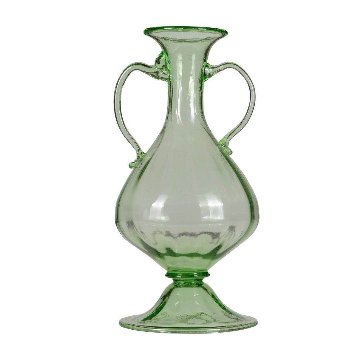 vase en forme de bouteille du 19 me si cle en verre souffl en vente sur pamono. Black Bedroom Furniture Sets. Home Design Ideas