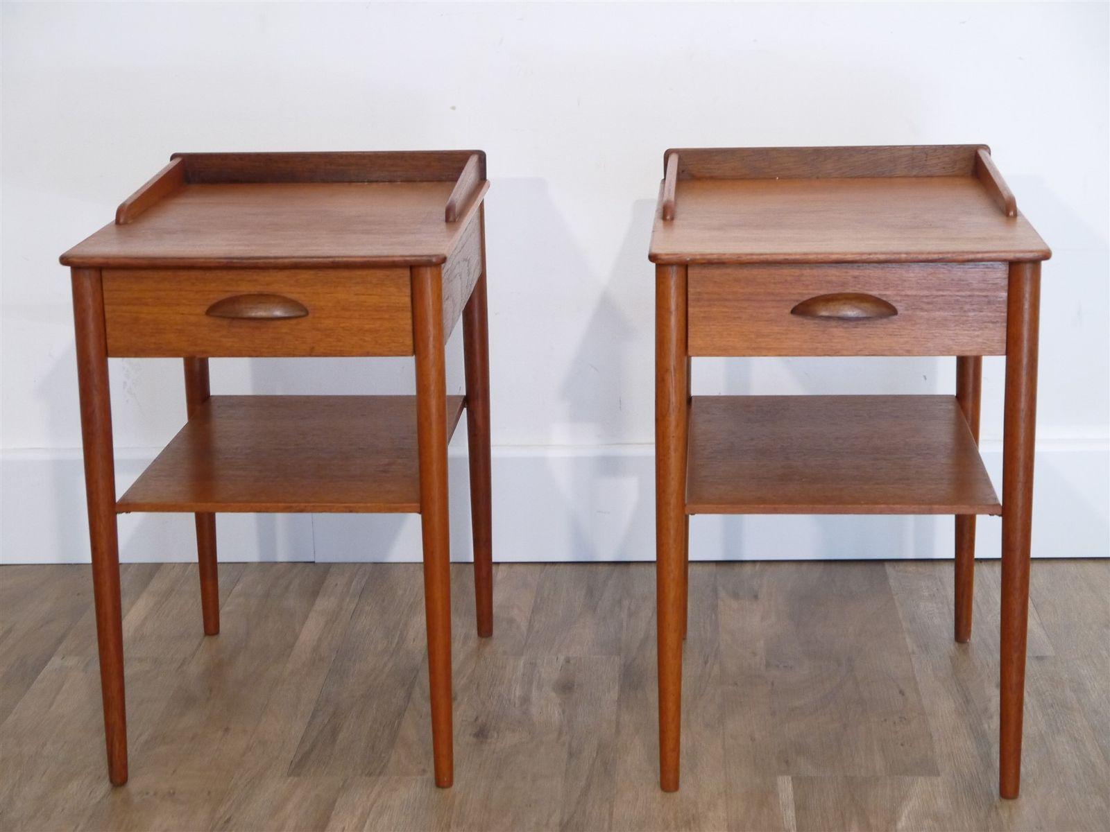 vintage scandinavian teak nightstands 1960s set of 2 bei pamono kaufen. Black Bedroom Furniture Sets. Home Design Ideas