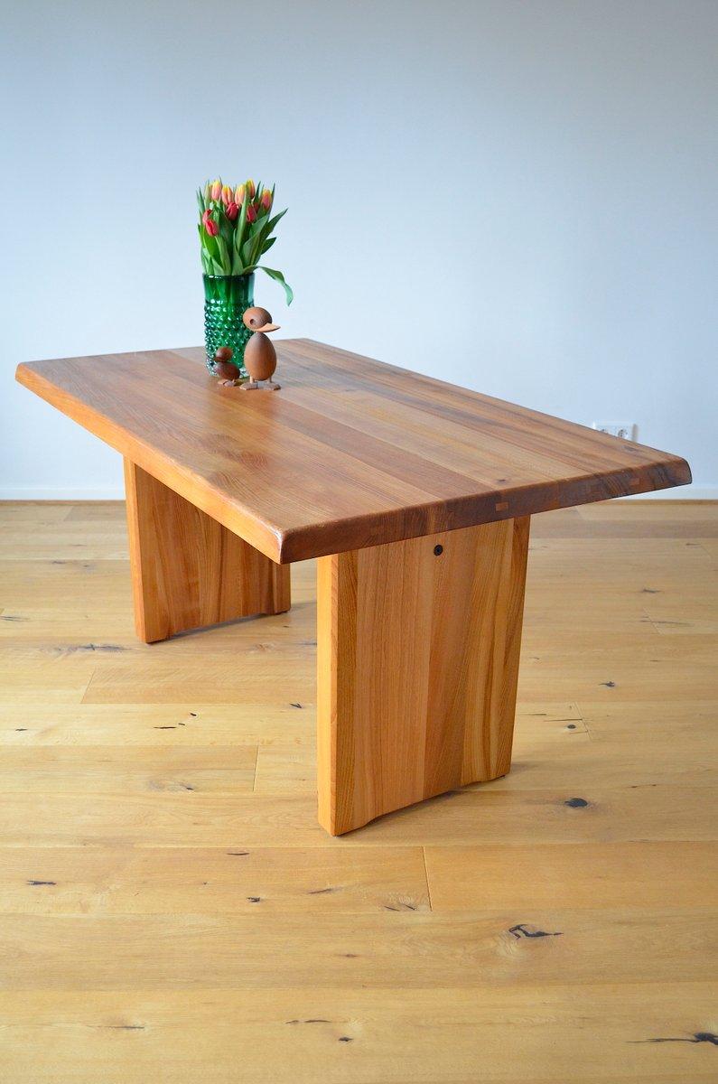 table de salle manger t14 vintage par pierre chapo. Black Bedroom Furniture Sets. Home Design Ideas