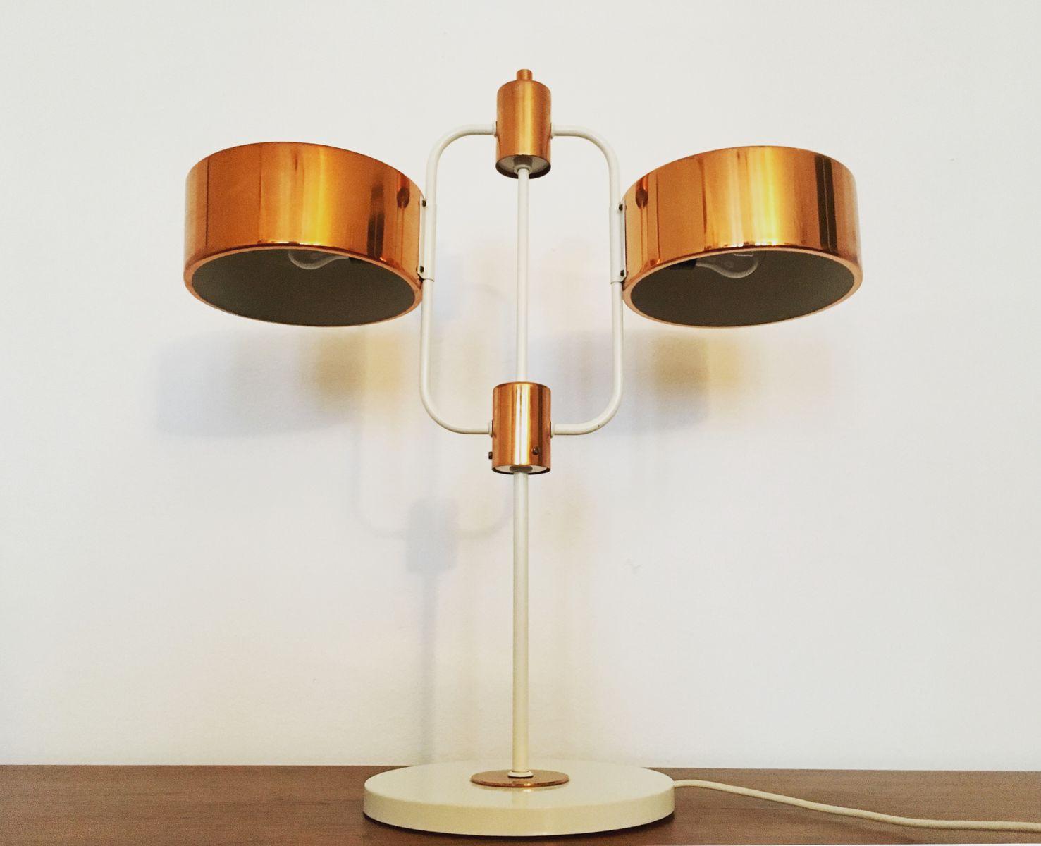 grande lampe de bureau avec d tails en cuivre de veb 1960s en vente sur pamono. Black Bedroom Furniture Sets. Home Design Ideas