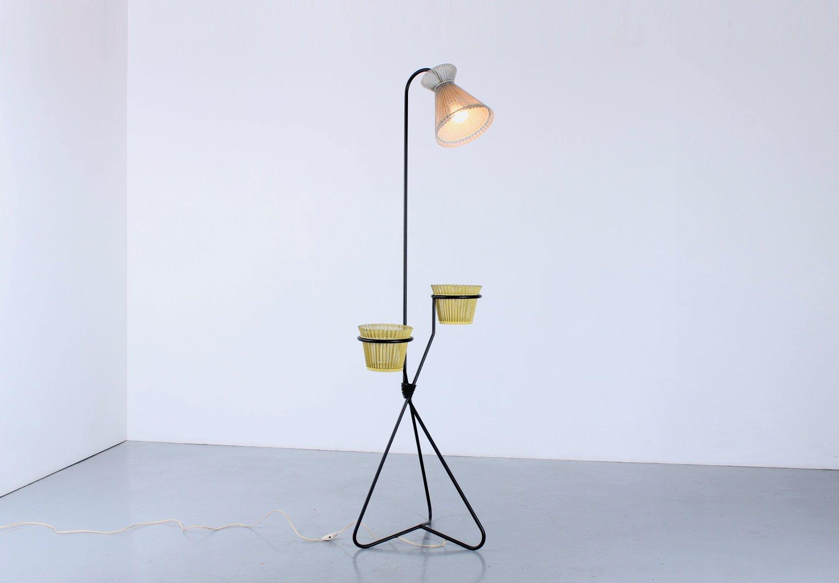 Floor Light mit Flowerpots von Mathieu Matégot für Artimeta, 1950er