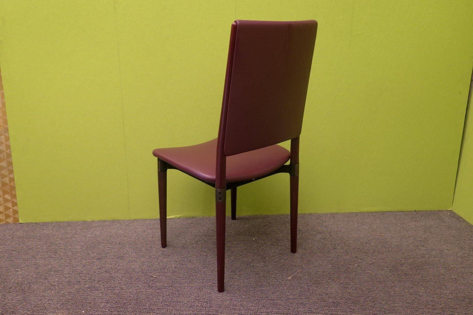 Stühle aus Holz & Leder von Osvaldo Borsani für Tecno ...