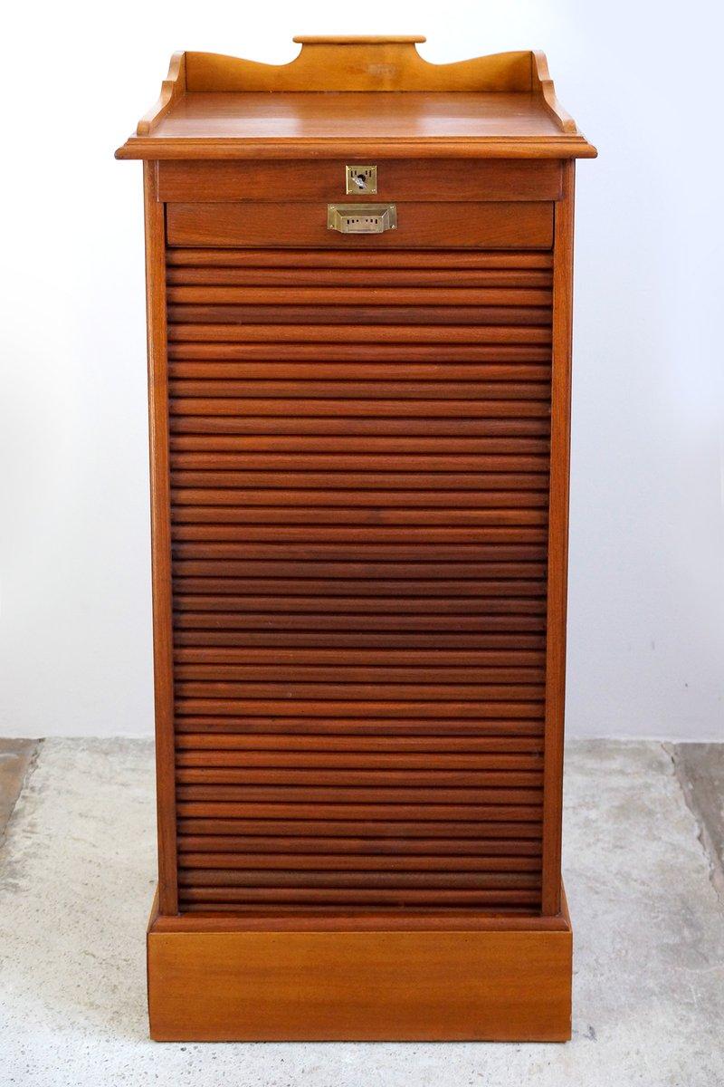 meuble de bureau fa ade d roulante antique art nouveau en vente sur pamono. Black Bedroom Furniture Sets. Home Design Ideas