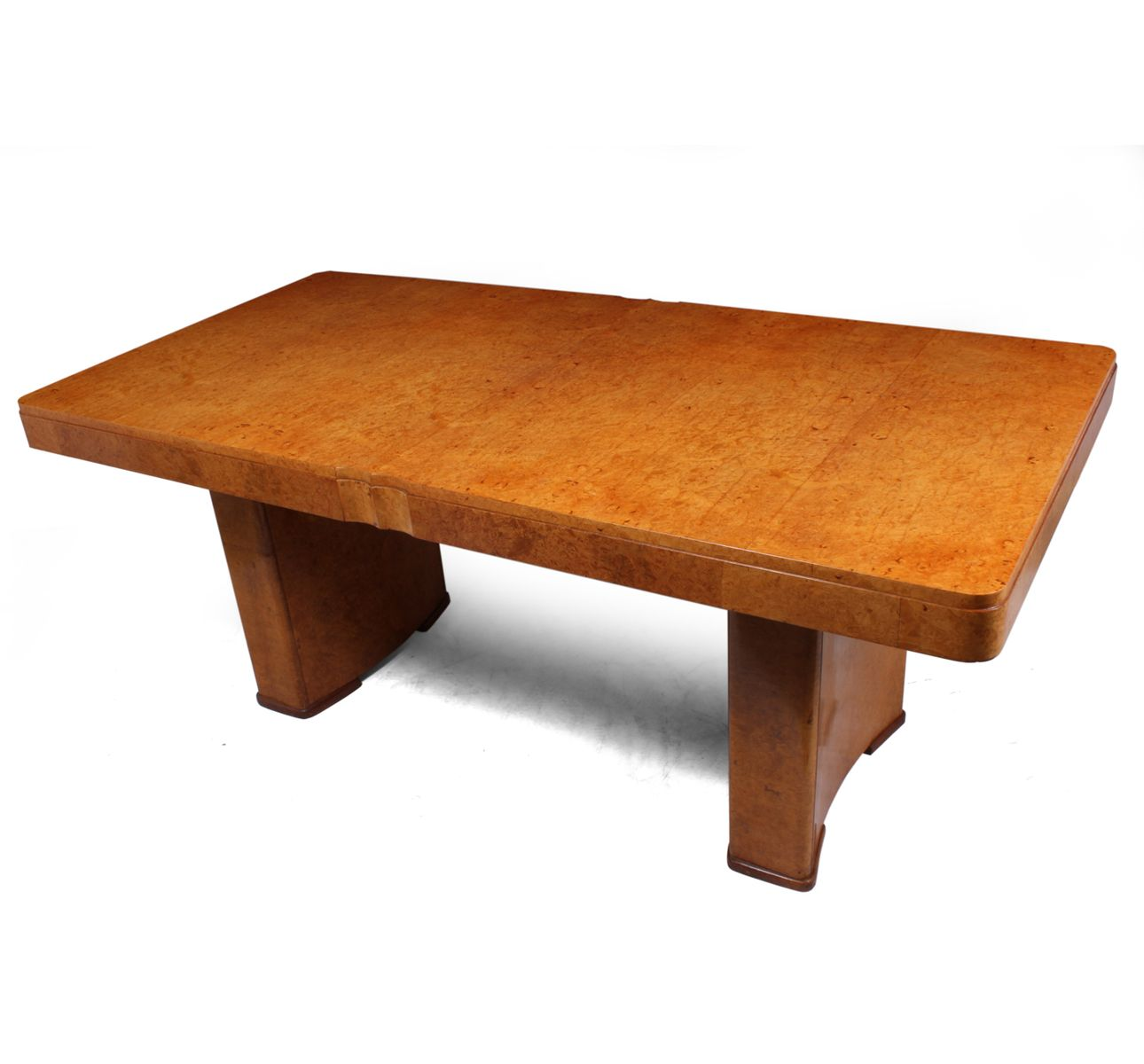Table de salle manger art d co en broussin d 39 rable 1930s en vente sur pamono - Deco sur table salle a manger ...
