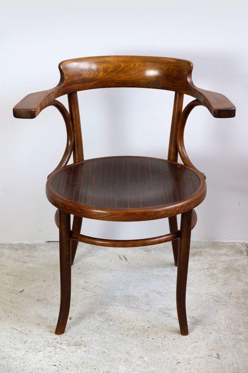 chaise de bureau antique en bois courb de fischel en vente sur pamono. Black Bedroom Furniture Sets. Home Design Ideas