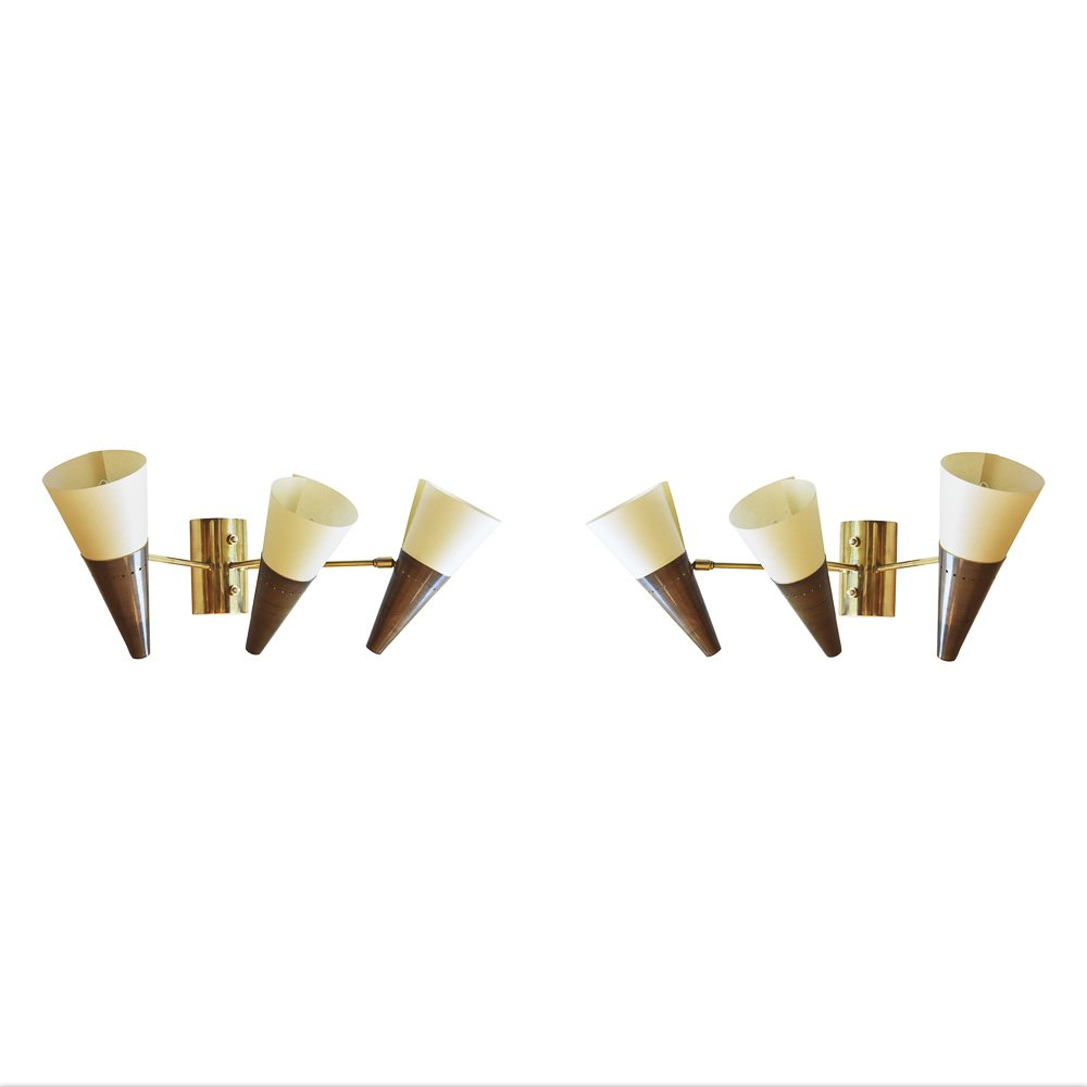 Vintage Sconces from Joie de Vivre, 1970s, Set of 2