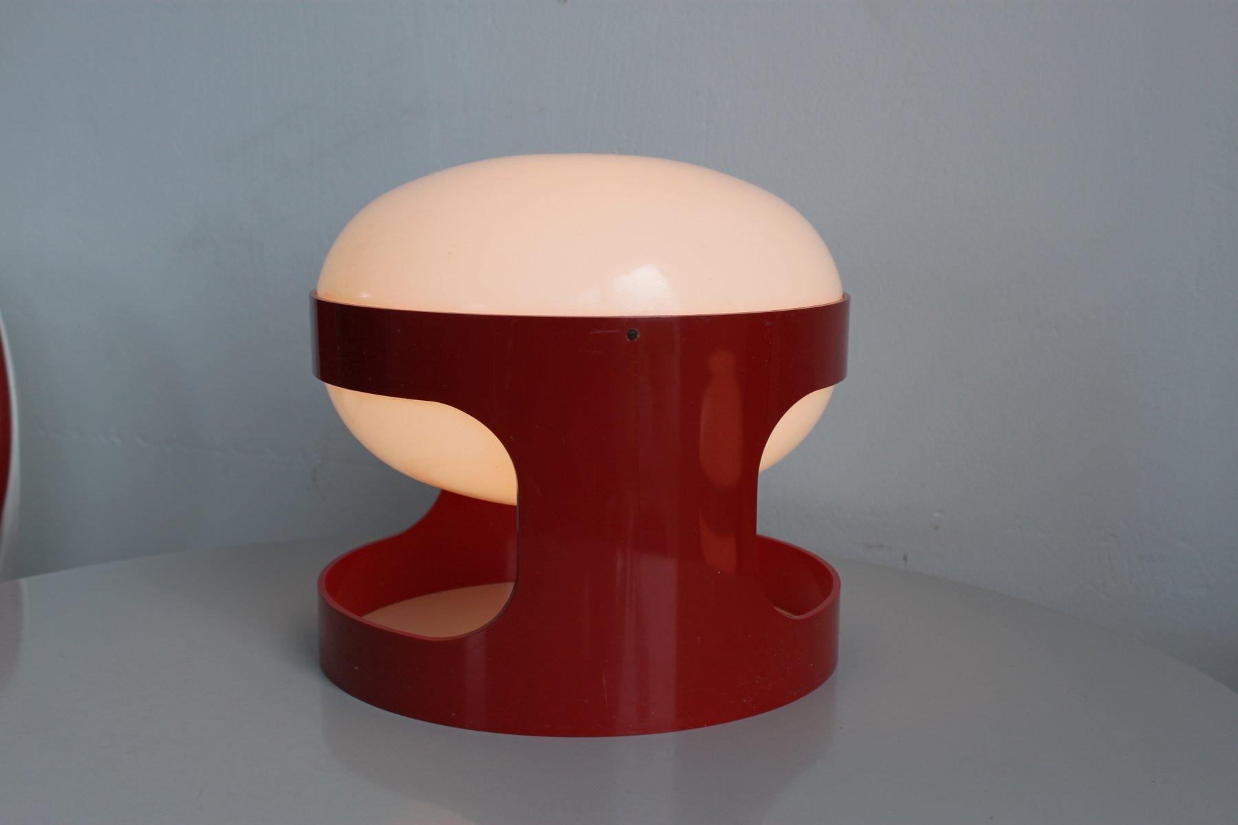 lampe de bureau kd27 rouge par joe colombo pour kartell 1967 en vente sur pamono. Black Bedroom Furniture Sets. Home Design Ideas