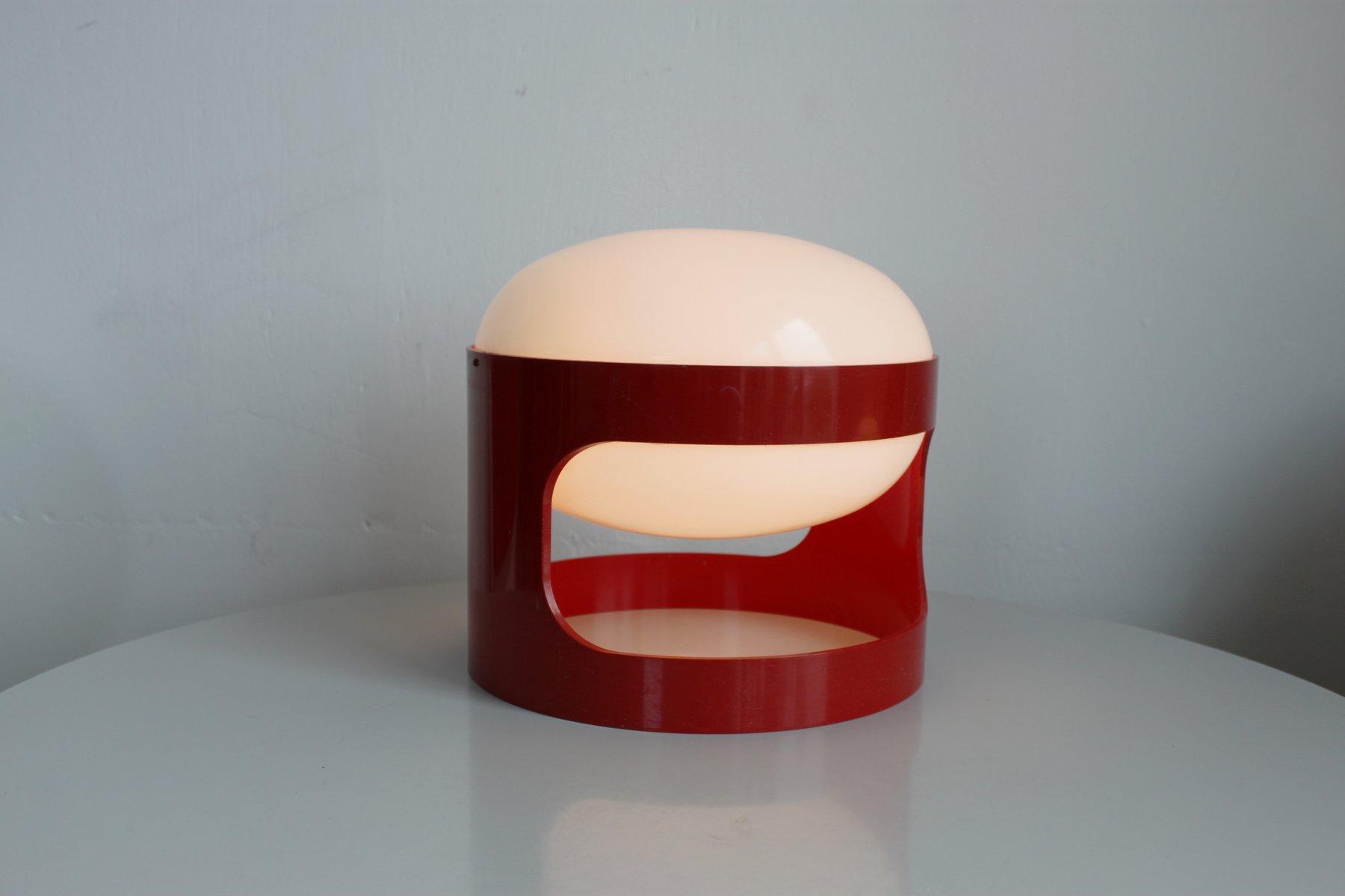 Lampe de bureau kd27 rouge par joe colombo pour kartell 1967 en vente sur pamono for Bureau kartell