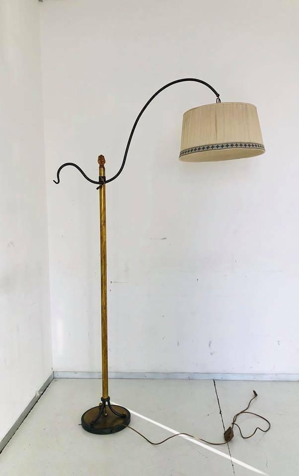 Vintage Brass Floor Lamp, 1950s