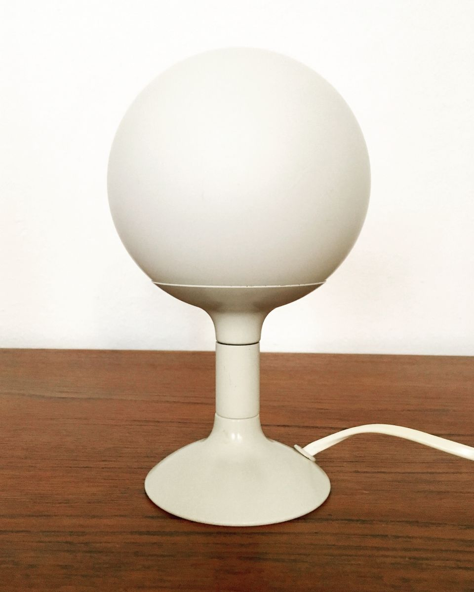 Space Age Opaline Glass Table Lamp from Kaiser Leuchten, 1960s