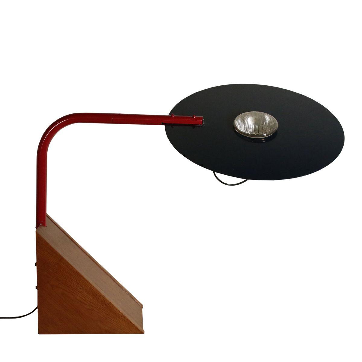 Vintage Spanish Wood, Metal & Aluminium Table Lamp, 1970s