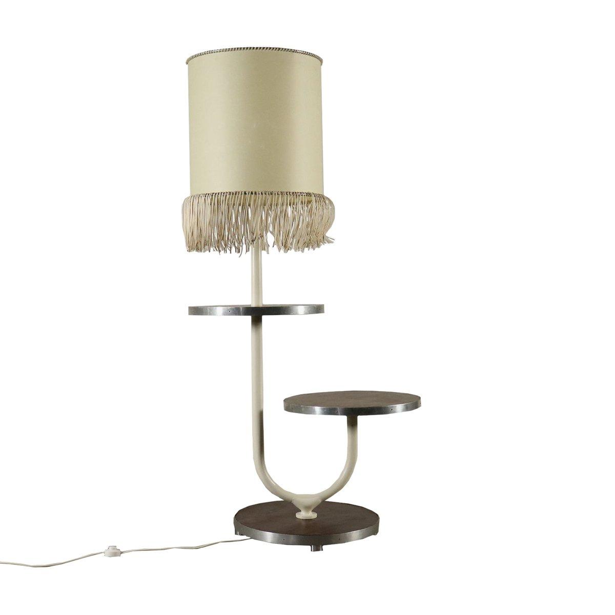 Vintage Italian Floor Lamp with Circular Table, 1970s