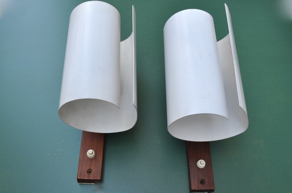 Model V140/A Sconces by Hans-Agne Jakobsson, 1950s, Set of 2