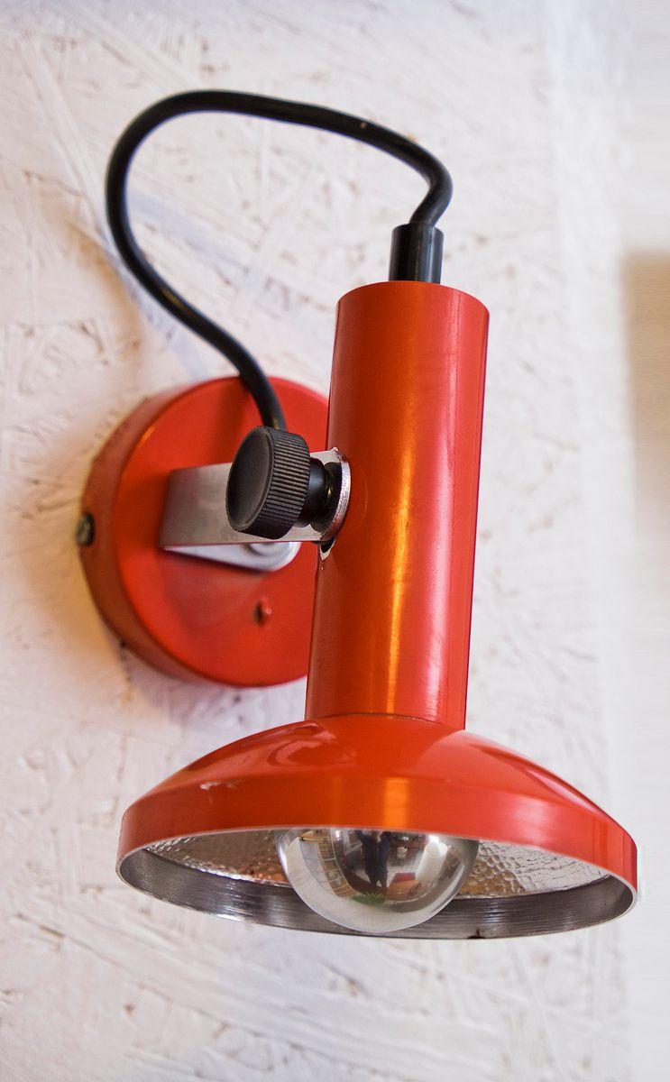 Rote Vintage Wandlampe von Hustadt Leuchten, 1960er