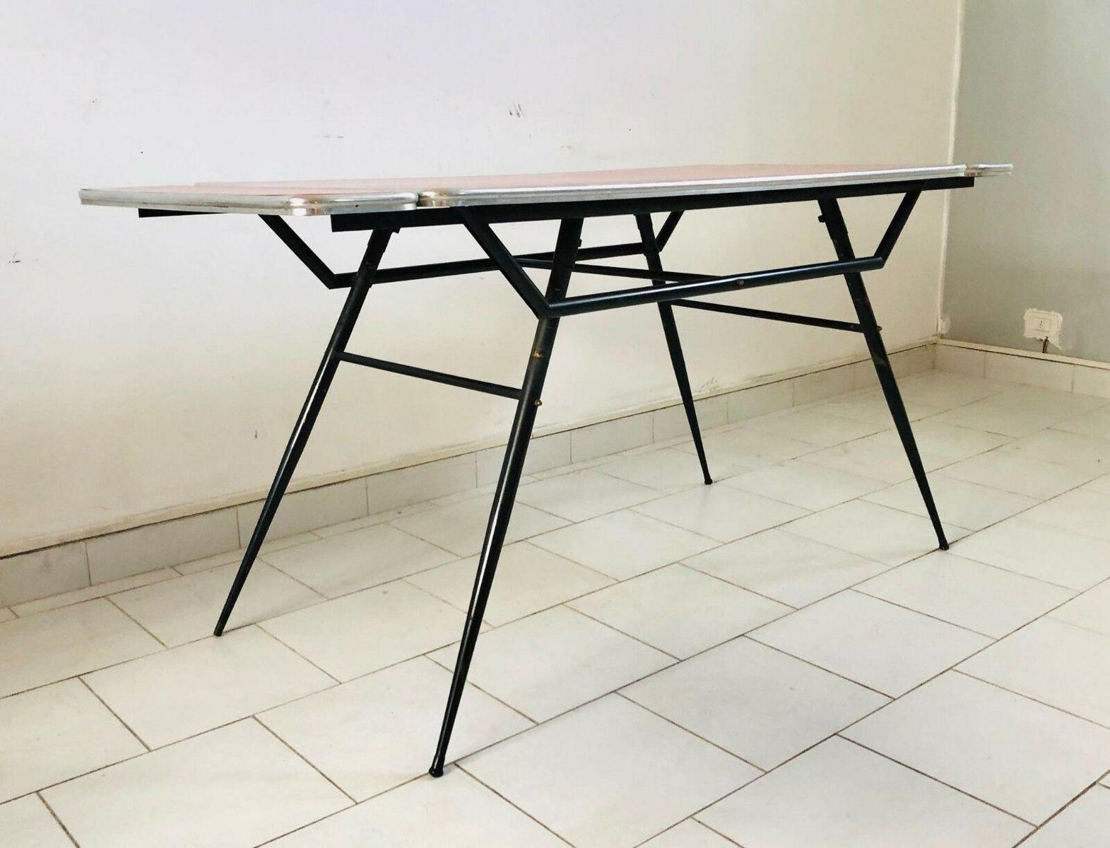 mid century esstisch und st hle 1960er 6er set bei. Black Bedroom Furniture Sets. Home Design Ideas