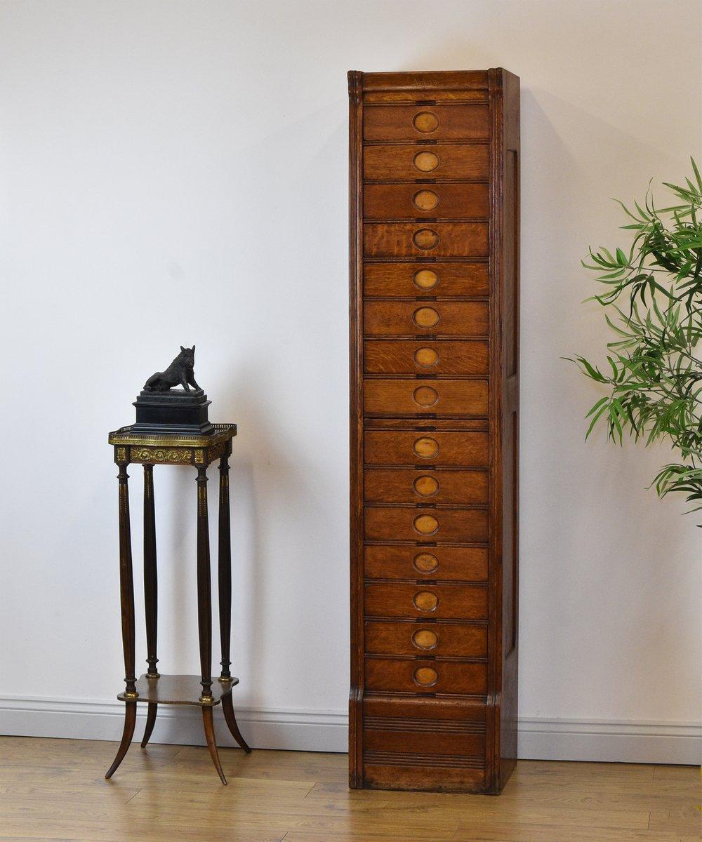 meuble d 39 archivage haut et troit 15 tiroirs art d co en. Black Bedroom Furniture Sets. Home Design Ideas